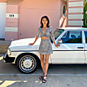 Gillette Mini Skirt- Print image