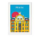 Praha Prague Illustrated Art Print image