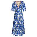 Tamara Dress - Bright Blue Flower Splat Print image