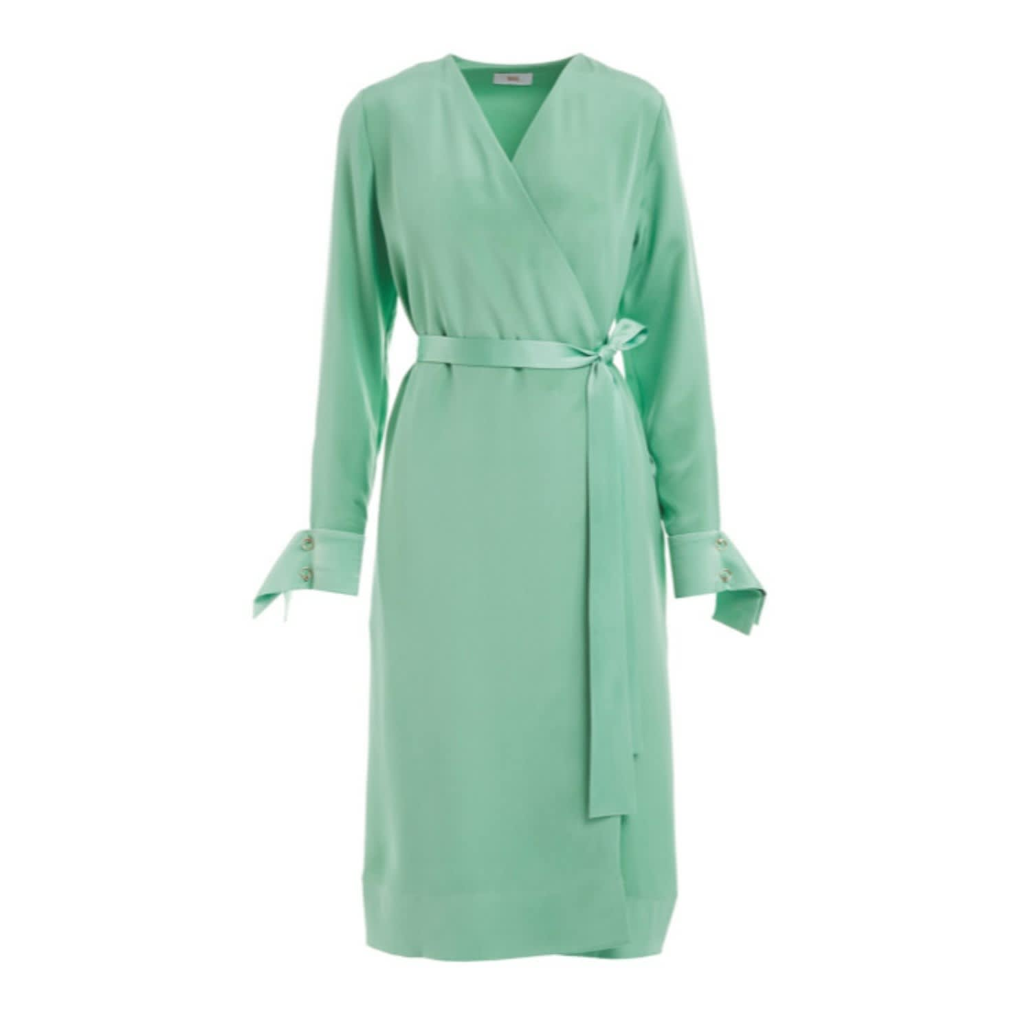 5ff84c1b50547 Peregrine Mint Green Silk Wrap Midi Dress