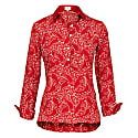 Soho Shirt-Red Paisley With Red Collar & Cuff image