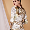 Cocoo Long Sleeve Velour Top In Organic Print image