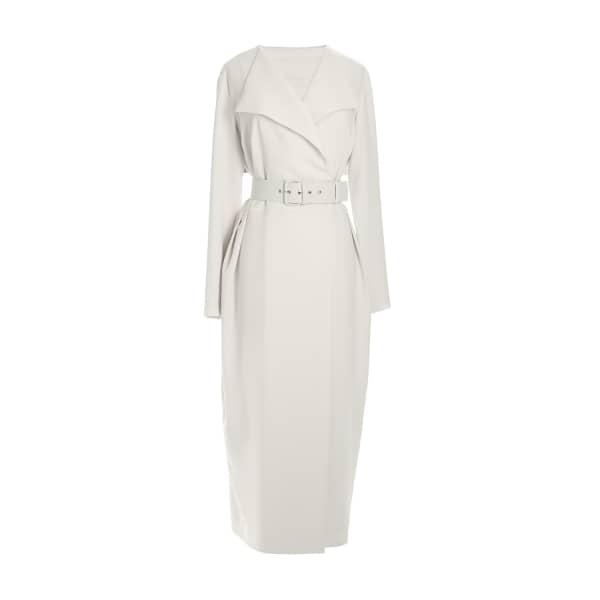 MUSÉE Wrap Crepe Midi Dress