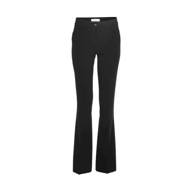 VIA MASINI 80 Black Comfort Cady Trousers With Pockets