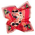 Large Savanna Ostrich Pink Silk Scarf image
