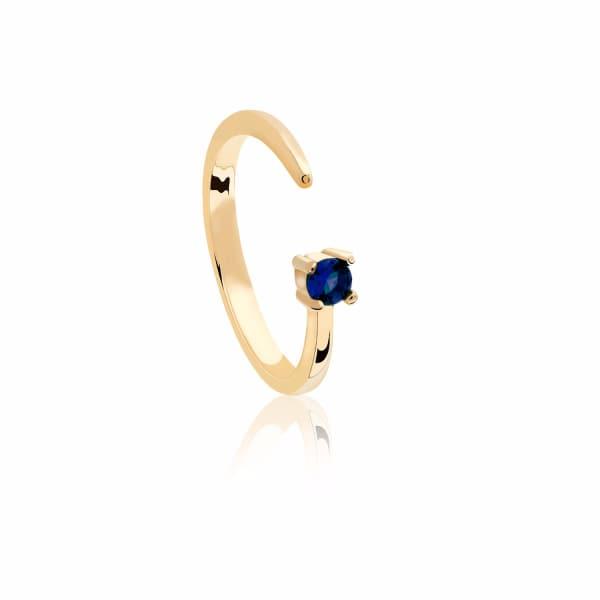 Astrid & Miyu Virgo Zodiac Ring in Gold