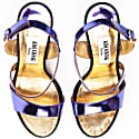 Metallic Effect Timeless Classic Sandals Purple image