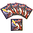Set of Five Textured Greeting Cards With Envelopes Multicoloured Koi image