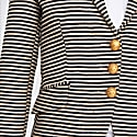 Striped Navy Blue Cream Blazer Zulema image