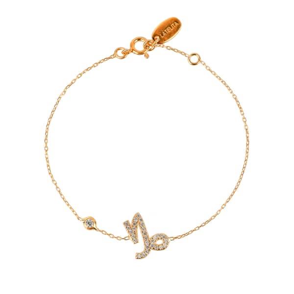Latelita London Capricorn Zodiac Bracelet Silver