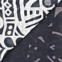 Tribal Linen/Modal Foulard - Black & White image