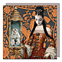 Set Of Five Greeting Cards With Envelopes featuring the Princess and the Monkey image