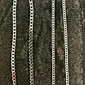 Curb Chain 3.7Mm In Silver - A Medium Width Necklace Chain In Sterling Silver image