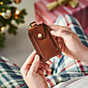 Luxe Tan Leather Luggage Tag image