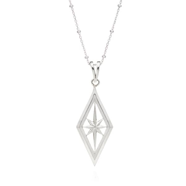 RACHEL JACKSON LONDON Nova Star Necklace In Silver
