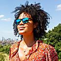 Vaquita Polarised-Mirrored Recycled Sunglasses In Black/Blue image