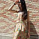 Open Back Mini Dress Hokokai image