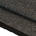 Charcoal Three Designs Wool Scarf image