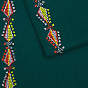 Hand Embroidered By Refugees Cashmere Scarf - Pine Tree Motif image