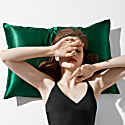 Silk Pillowcase Green image
