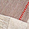 Studio Altar For Allpa : Handwoven Alpaca Throw - Beige & Taupe image