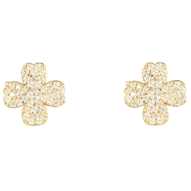 4e520ddbd Lucky Four Leaf Clover Earring Gold   LATELITA   Wolf & Badger