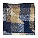 Regent Blue & Tan Herringbone Wool Pocket Square image