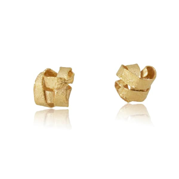 KAROLINA BIK JEWELLERY Algae Earrings Gold