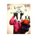 Mr Badger Print image