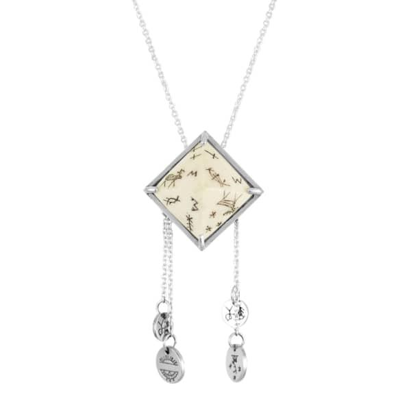 Sami Pyramid & Coins Pendant Necklace