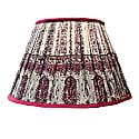 "16"" Silk Sari Paisley Empire Lampshade image"