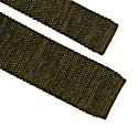 Military Green Melange Wool & Silk Knitted Tie image
