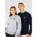Heart Organic Sweatshirt In Navy image