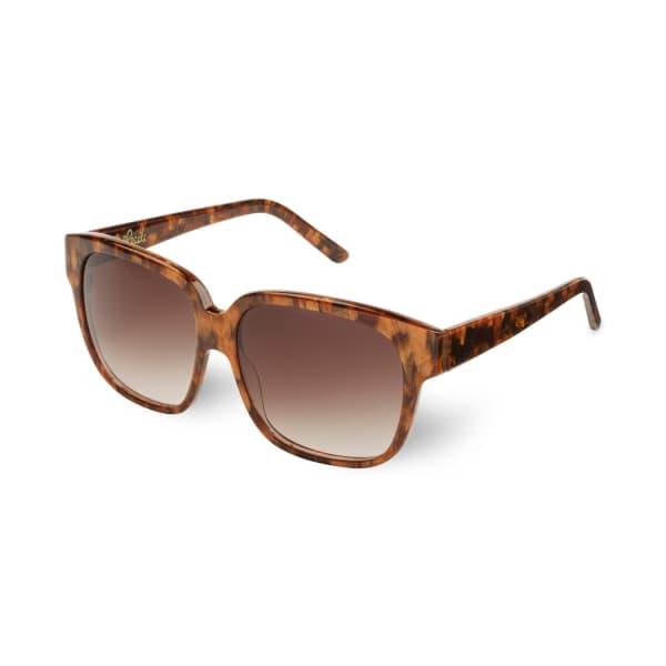 HEIDI LONDON Oversized Square Sunglasses Brown
