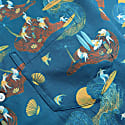 Far Afield Stachio Short Sleeve Shirt Surf Story Print Ensign Blue image