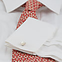 Barrow Cufflinks - Mother Of Pearl & Silver image