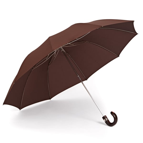 GIZELLE RENEE The Serendipity Compact Brown Umbrella