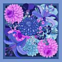 The Dahlia Bouquet Neckerchief Indigo image