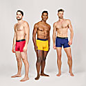 Super Soft Boxer Briefs - Anti-Chafe & No Ride Up Design - 3 Pack (Blue, Red & Yellow) image