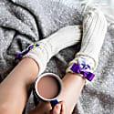 Silk Bow Alpaca Socks image