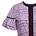 Letter Print Dress Lilac image
