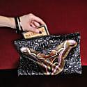 Giant Silk Moth Velvet Clutch Bag Samia Cynthia image