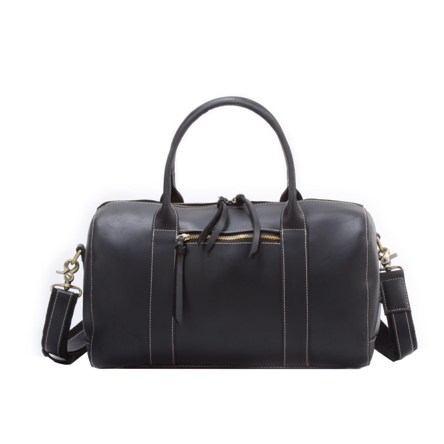Womens Leather Weekend Overnight Bag in Black  5ddd2e678e