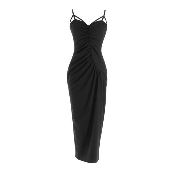 MUSÉE Black Midi Dress