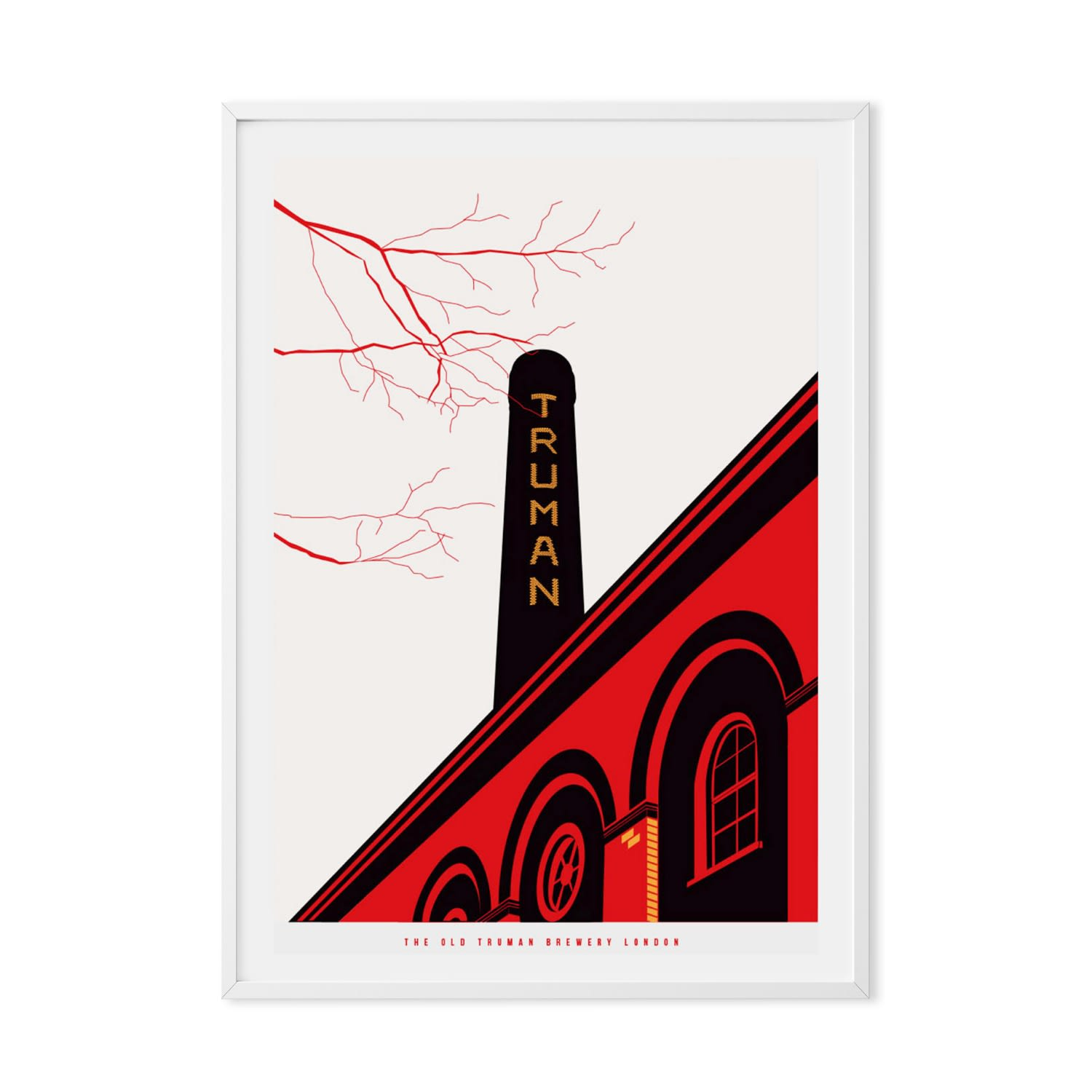 Prints of London The Old Truman Brewery Illustrated Art Print