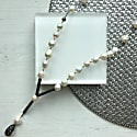 Natural Edison Perals & Rhinestones Y-Shaped Necklace image