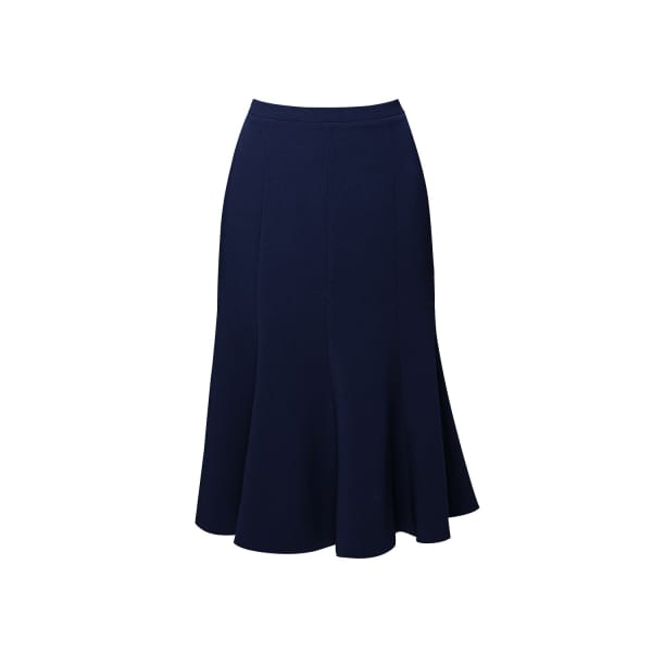 RUMOUR LONDON Lucy Wool Midi Skirt In Navy in Blue