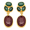 Corundum Oval Drop Earrings image