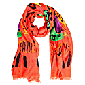 Bruna Scarf - Selden Art Cashmere - Coral image