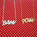 Pow Letters Necklace Large in Silver image